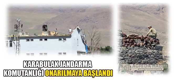 Karabulak Jandarma Karakolu onarılmaya başlandı.