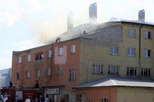 Erzurum'da fabrika yangını