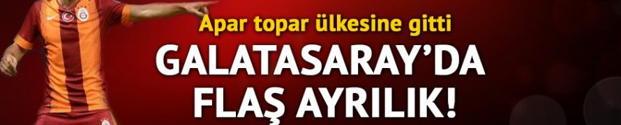 Galatasaray'da Dzemaili ülkesine gitti!