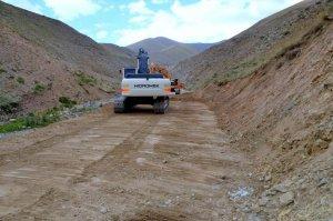 Erciş'te yol yapım çalışmaları