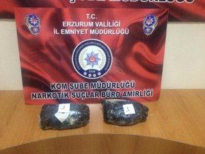 Erzurum'da 1 kilogram eroin ele geçirildi