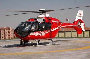 Ambulans helikopter bin 585 kez hasta için havalandı