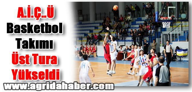 Ağrı İbrahim Çeçen Üniversitesi Basketbol Takımı Üst Tura Yükseldi