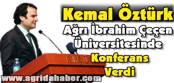 Anadolu Ajansı Genel Müdürü Kemal Öztürk Ağrı İbrahim Çeçen Üniversitesinde Konfrans Verdi