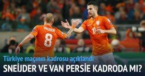 Sneijder ve Van Persie kadroda