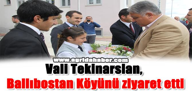 Vali Tekinarslan, Ballıbostan Köyünü ziyaret etti
