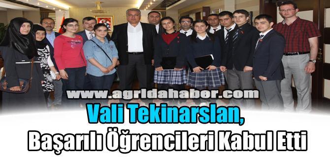 Vali Tekinarslan, başarılı öğrencileri kabul etti