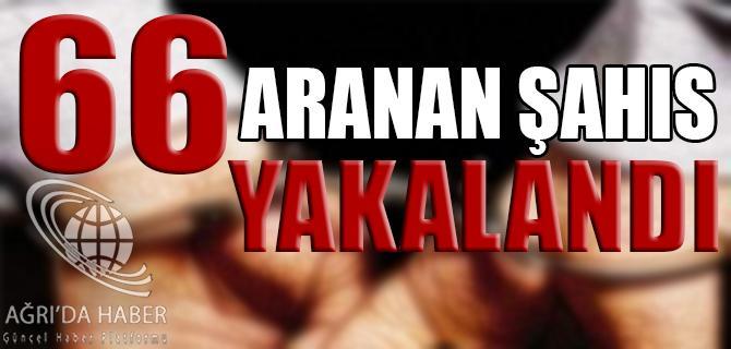 66 ARANAN ŞAHIS YAKALANDI.