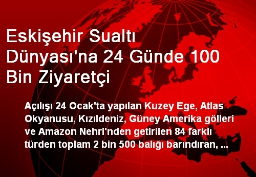 Eskişehir Sualtı Dünyası'na 24 Günde 100 Bin Ziyaretçi