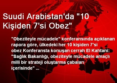 Suudi Arabistan'da '10 Kişiden 7'si Obez'