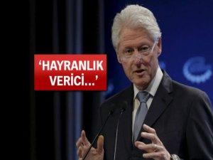 Bill Clinton: Türkler hayranlık verici bir iş yaptı