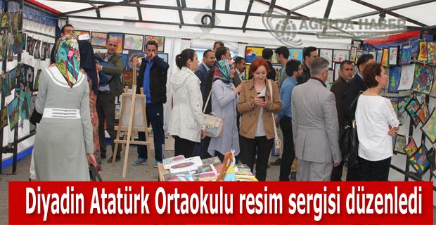 Diyadin Atatürk Ortaokulu resim sergisi düzenledi
