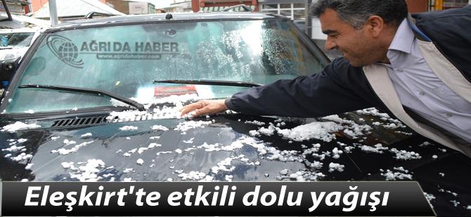Eleşkirt'te etkili dolu yağışı