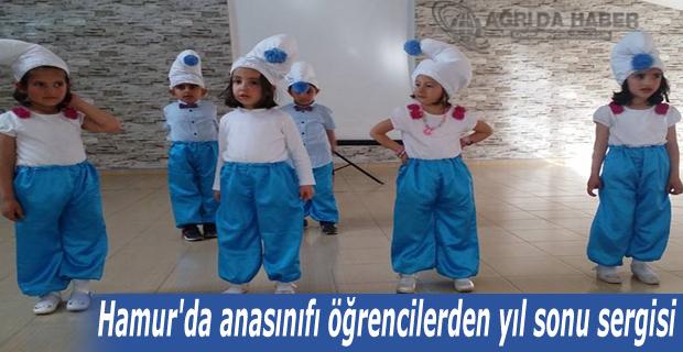 Hamur'da anasınıfı öğrencilerden yıl sonu sergisi düzenlendi