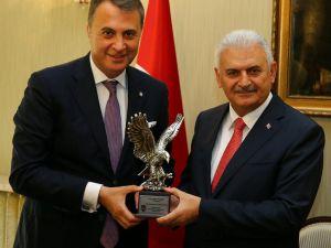 Başbakan Yıldırım, Bjk Başkanı Orman'ı Kabul Etti