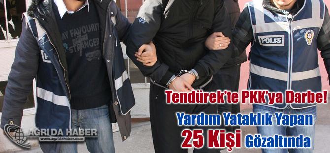Tendürek Dağındaki PKK Mensuplarına Yardım Yataklık Yapan 25 Kişi Tutuklandı