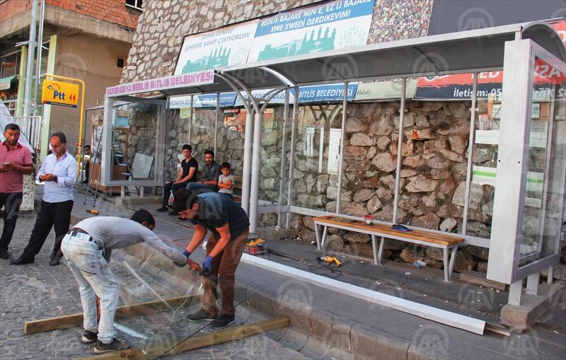 Bitlis'te Otobüs Durakları Hizmete Açıldı