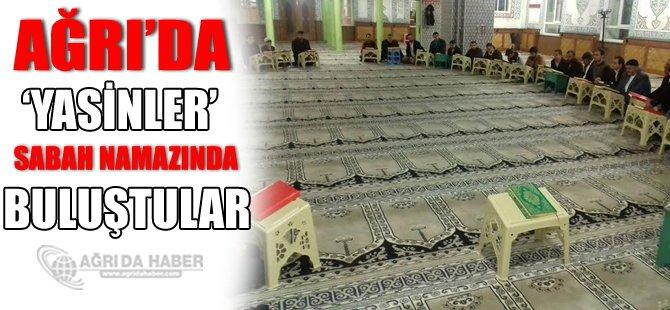 Mustazaflar Cemiyeti Ağrı Şubesi üye ve gönüllüleri Sabah Namazında Buluştular