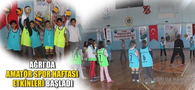 Ağrı'da Amatör Spor Haftası Etkinlikleri Başladı