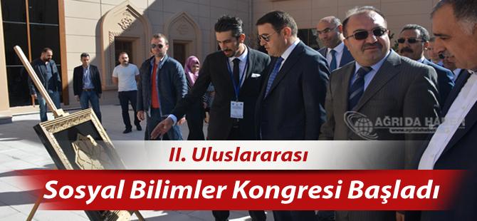 Ağrı İbrahim Çeçen Üniversitesinde II. Uluslararası Sosyal Bilimler Kongresi Başladı