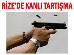 Rize'de kahvehane tarandı 1 kişi öldü ! İşte Olay Anı !