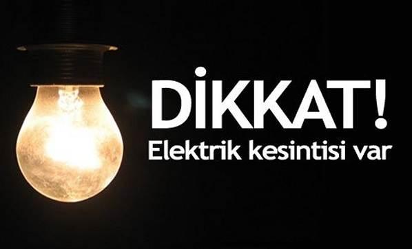Elektrik kesintisine dikkat!