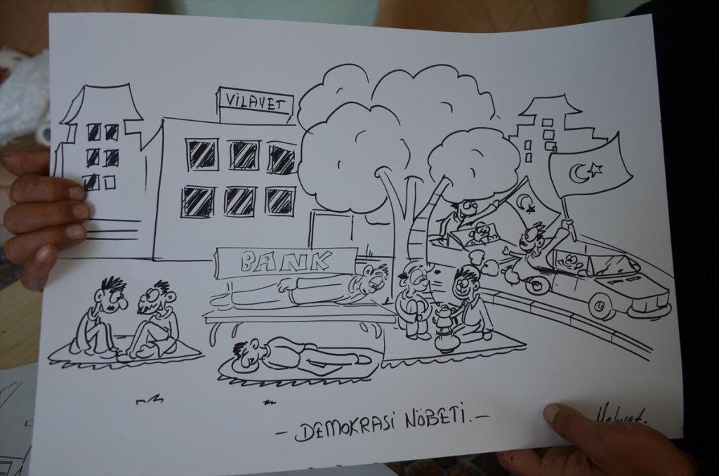 Karikatüristler 15 Temmuz Kahramanlarını Anlatıyor