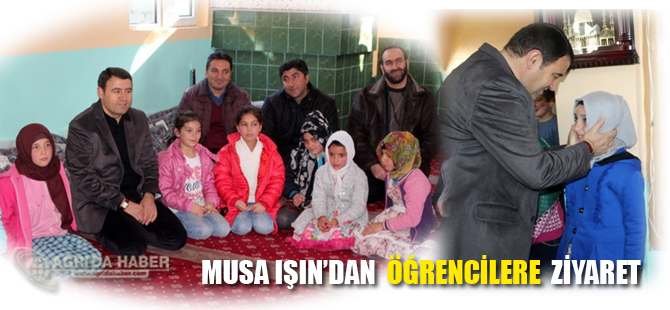 Musa Işın Kur'an Kursu Öğrencilerini Ziyaret Etti
