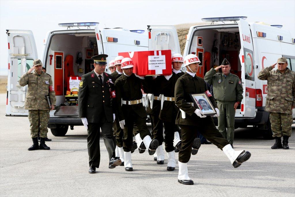 Van'daki Terör Saldırısında şehit düşen korucu ve vatandaşlar uğurlandı