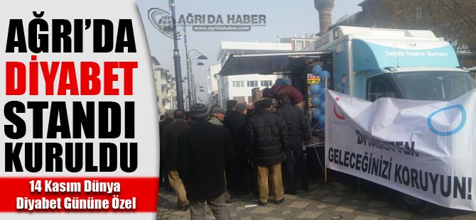 Ağrı'da 14 Kasıma Özel Diyabet Standı Kuruldu!
