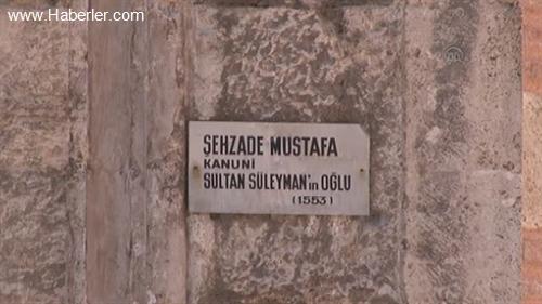 Şehzade Mustafa Türbesi'ndeki restorasyon çalışmaları -