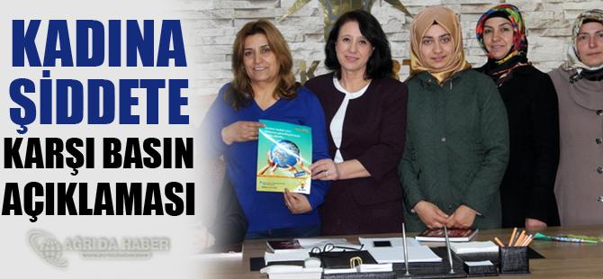 Kadına Şiddete Karşı Basın Açıklaması!