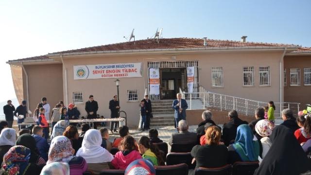 Belediye tarafından açılan Şehit Engin Tilbaç Eğitim Merkezi halka Tanıtıldı