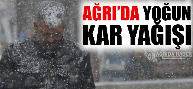 Ağrı'da Yoğun Kar Yağışı Etkisini Sürdürüyor!