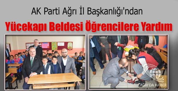 AK Parti Ağrı İl Başkanlığı'ndan Yücekapı Beldesi Öğrencilere Yardım
