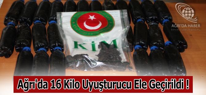 Ağrı'da 16 Kilo Uyuşturucu Ele Geçirildi !