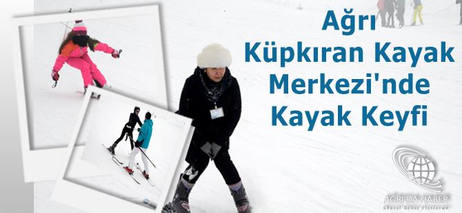 Ağrı Küpkıran Kayak Merkezi'nde kayak keyfi