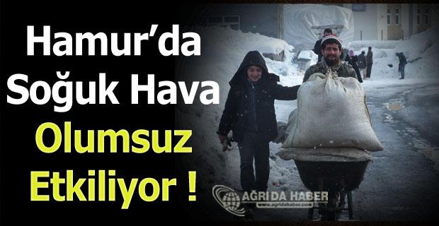 Hamur'da soğuk hava ve tipi hayatı olumsuz etkiliyor