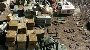 Hakkari'de Mağarada Teroristlerin Mühimmatları ele geçirildi