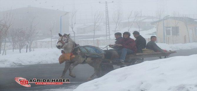 Hamur'da Yoğun Sis Vatandaşlara Zor Anlar Yaşattı