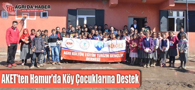 AKET'ten Hamur'da köy çocuklarına destek