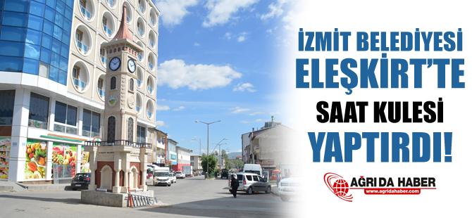 İzmit Belediyesi Eleşkirt'te Saat Kulesi Yaptı