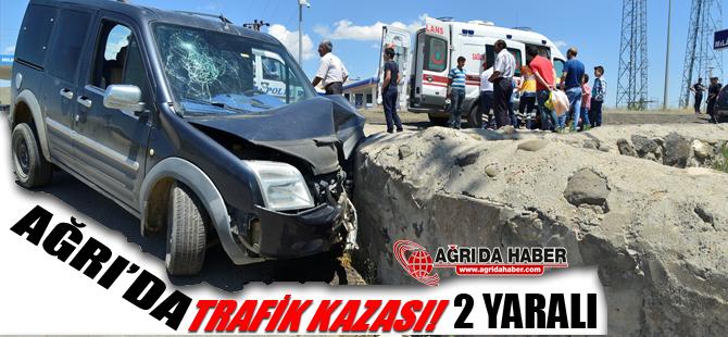Ağrı'da Trafik Kazası 2 Yaralı