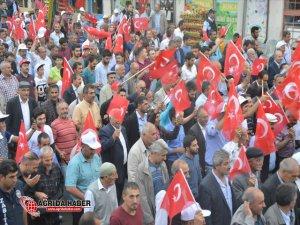 Eleşkirtte'de 15 Temmuz Darbesi Protesto Edildi