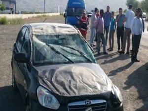Elazığ'da Otomobil Şarampole Devrildi: 4 Yaralı