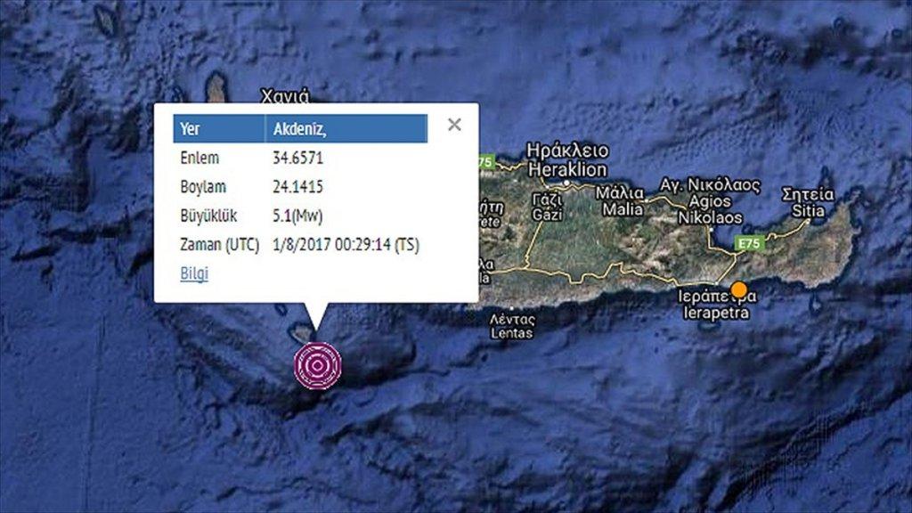 Akdeniz'de 5,1 Büyüklüğünde Deprem Oldu