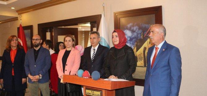 Aile ve Sosyal Politikalar Bakanı Fatma Betül Sayan Kaya Ağrı'da geldi