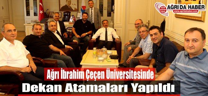 Ağrı İbrahim Çeçen Üniversitesi Fakültelerine Dekan Atamaları Yapıldı