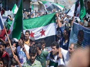 Suriye'de Terör Örgütü Pkk/pyd Karşıtı Gösteriler Yapıldı