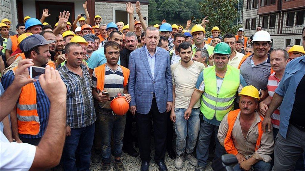 Erdoğan'dan Güneysu Konakları İnşaat Alanında İnceleme